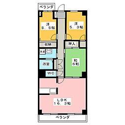 不二マンションA棟[2階]の間取り