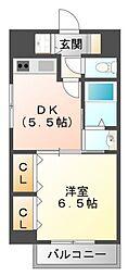 プルミエール江坂[2階]の間取り