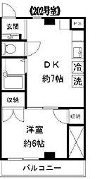 東京都新宿区赤城元町の賃貸マンションの間取り