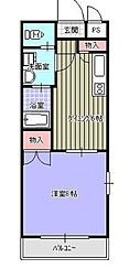 サンハイツ小森野Ⅱ[201号室]の間取り