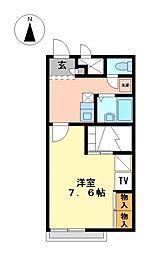 兵庫県神崎郡福崎町山崎の賃貸アパートの間取り