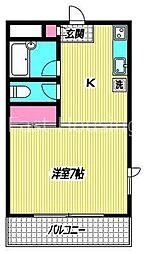 東京都杉並区南荻窪1丁目の賃貸アパートの間取り