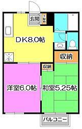 ガーデンハウス・ベル石神井3号棟[2階]の間取り