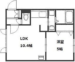 北海道札幌市豊平区美園八条1丁目の賃貸マンションの間取り