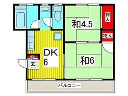 本町スカイコーポ[301号室]の間取り