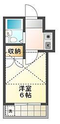 クレスト津田沼[1階]の間取り