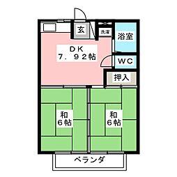 メゾンYAMATO[2階]の間取り