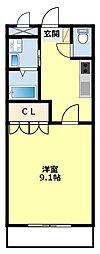 愛知県豊田市太平町平山の賃貸アパートの間取り