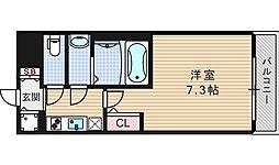 大阪府大阪市西区江戸堀2丁目の賃貸マンションの間取り