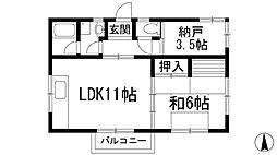 兵庫県宝塚市小浜3丁目の賃貸アパートの間取り