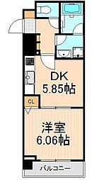 パークキューブ上野[9階]の間取り
