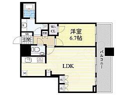 阪急京都本線 大阪梅田駅 徒歩5分の賃貸マンション 10階1LDKの間取り