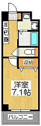 sama-sama 4階1Kの間取り