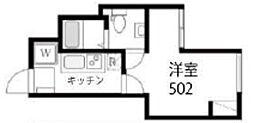 JR山手線 西日暮里駅 徒歩7分の賃貸マンション 5階1Kの間取り