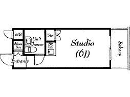 ダイアパレス淵野辺III[5階]の間取り