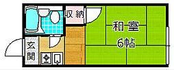 山本ハイツ A棟[1階]の間取り