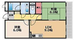 ハートシード[3階]の間取り