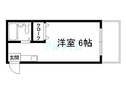 プルシャン西京極[4階]の間取り