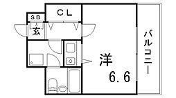 朝日プラザツインステージ神戸EAST[8階]の間取り