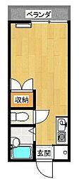 東京都葛飾区東水元1丁目の賃貸アパートの間取り
