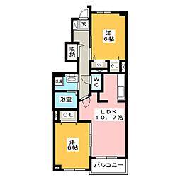 パルテ・カナーレV[1階]の間取り