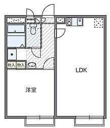 東京都日野市三沢5丁目の賃貸アパートの間取り