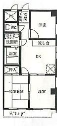 埼玉県さいたま市南区文蔵3丁目の賃貸マンションの間取り
