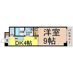 愛知県名古屋市南区堤起町1の賃貸マンションの間取り