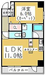 ポムダムール[4階]の間取り