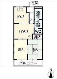 レジデンス165[2階]の間取り