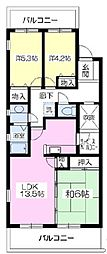 エトワール大善寺II[401号室]の間取り