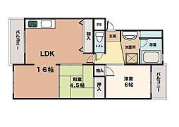 メゾン大津和[2階]の間取り