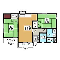 コーポエコーハイツ[3階]の間取り