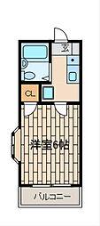 東京都町田市能ヶ谷1丁目の賃貸アパートの間取り