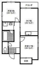 富士ビルマンションNo.1[303号室]の間取り