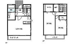 [テラスハウス] 神奈川県茅ヶ崎市浜竹4丁目 の賃貸【/】の間取り