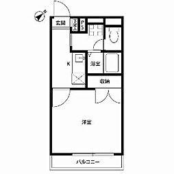 東京都日野市栄町5丁目の賃貸マンションの間取り