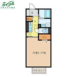 近鉄名古屋線 霞ヶ浦駅 徒歩13分の賃貸アパート