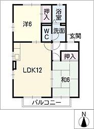 ルイ宝地[1階]の間取り