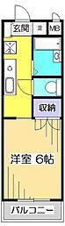 東京都国分寺市東恋ヶ窪5の賃貸マンションの間取り
