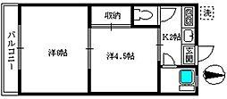 すずらん荘[201号室]の間取り