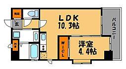 アーバンコート赤坂[6階]の間取り