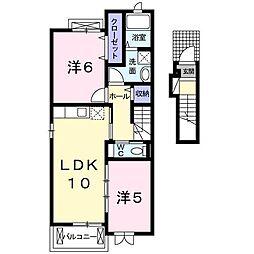 カーニバル[2階]の間取り