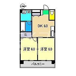 ヴィラ鯉ノ丸I[2階]の間取り