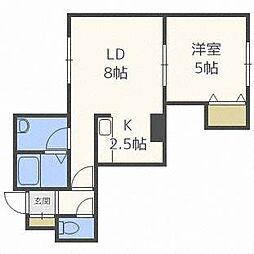 シルキー白石[2階]の間取り