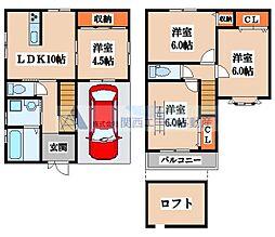 [一戸建] 大阪府東大阪市川田3丁目 の賃貸【/】の間取り