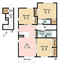シャーメゾントミーD[2階]の間取り