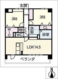 仮)久地野マンション[3階]の間取り