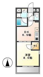 セローム亀島[4階]の間取り