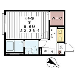 AJ津田沼II[104号室]の間取り